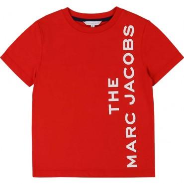 Czerwony t-shirt dla dzieci The Marc Jacobs 004029 A