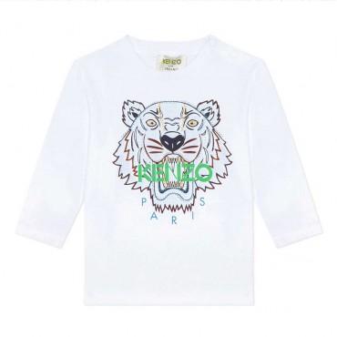 Niemowlęce koszulki z Tygrysem Kenzo 004032