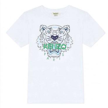 Eko t-shirt dziecięcy Kenzo Kidswear Tiger 004034