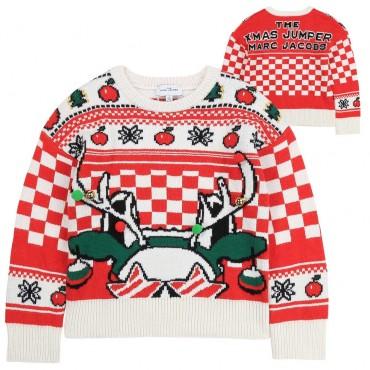 Świąteczny sweter dziecięcy The Marc Jacobs 004042 a