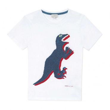 T-shirt chłopięcy z dinozaurem Paul Smith 004043