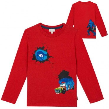 Koszulka chłopięca z nadrukiem Paul Smith 004045