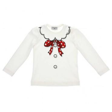 Odzież dla dziewczynek - koszulki dziewczęce z nadrukiem Monnalisa 004054 A
