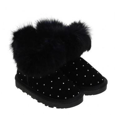 Ocieplone buty dla dziewczynki Monnalisa 004056 a