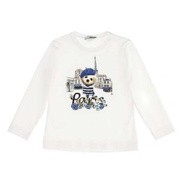 Ubranka dla dzieci - koszulka dla dziewczynki Paris Monnalisa 004057 A