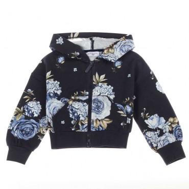 Bluza z kapturem dla dziewczynki Monnalisa 004059 A