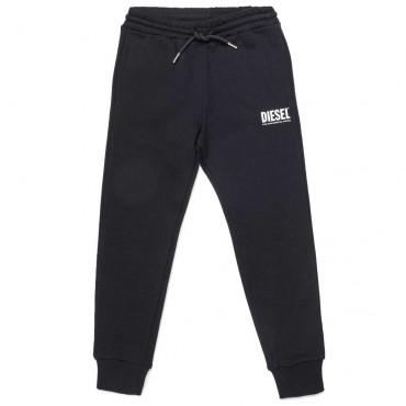 Czarne spodnie sportowe dla chlopca Diesel 004073