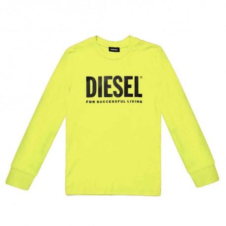 Jaskrawożółta koszulka dla dziecka Diesel 004074
