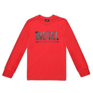 Czerwona koszulka dla dziecka Diesel 004075 A