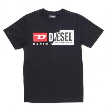 Czarny t-shirt dla dziecka Mini Me Diesel 004079 a