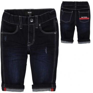 Miękkie jeansy dla małego chłopca Hugo Boss 004105 a