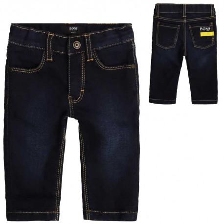 Wygodne jeansy dla małego chłopca Hugo Boss 004106 a