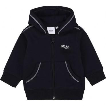 Bluza niemowlęca z kapturem Hugo Boss 004108 A