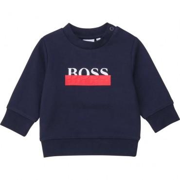 Bluza niemowlęca z logo Hugo Boss 004109 a