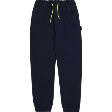 Bawełniane spodnie dla chłopca Hugo Boss 004110 a