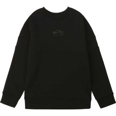 Czarna bluza dla chłopca Hugo Boss 004120 a