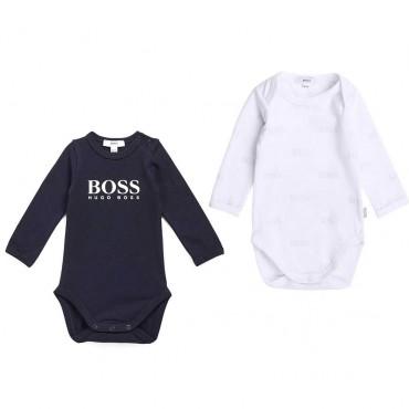 Komplet 2 szt body dla niemowlaka Hugo Boss 004125 a