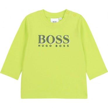 Jaskrawa koszulka niemowlęca Hugo Boss 004127 a