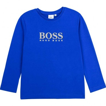 Koszulka chłopięca electric blue Hugo Boss 004132 a