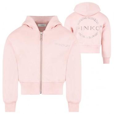 Różowa bluza dla dziewczynki Pinko Up 004134