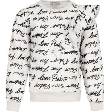Bluza dziewczęca z falbaną Pinko Up 004145 a