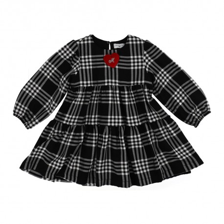 Dziewczęca sukienka w kratę Monnalisa 004149 a
