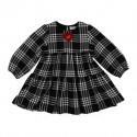 Dziewczęca sukienka w kratę Monnalisa 004149