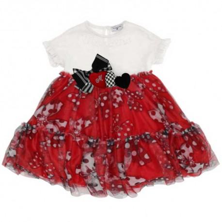 Tiulowa sukienka dla dziewczynki Monnalisa 004150 a