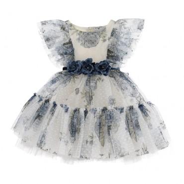Balowa sukienka dla dziewczynki Monnalisa 004154 a