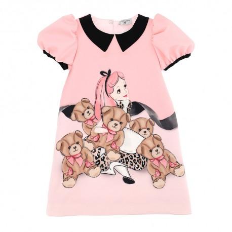 Trapezowa sukienka dla dziecka Monnalisa 004155 a