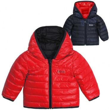 Puchowa kurtka dla małego chłopca Hugo Boss 004118 a