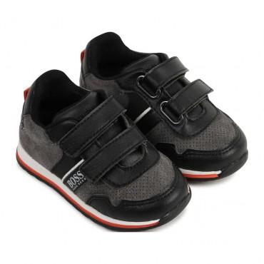 Buty chłopięce na rzepy Hugo Boss 004167 a