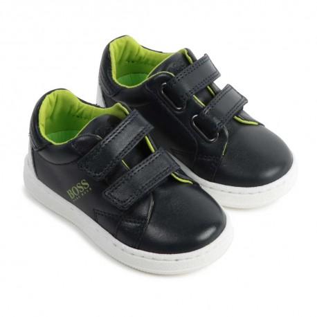Sportowe obuwie dla chłopca Hugo Boss - buty chłopięce na rzepy -004168 a