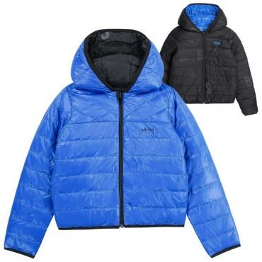 Puchowa dwustronna kurtka dla chłopca Boss - kurtki chłopięce 004172 a
