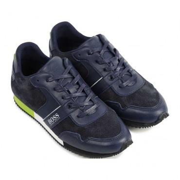 Sznurowane obuwie chłopięce Hugo Boss 004176