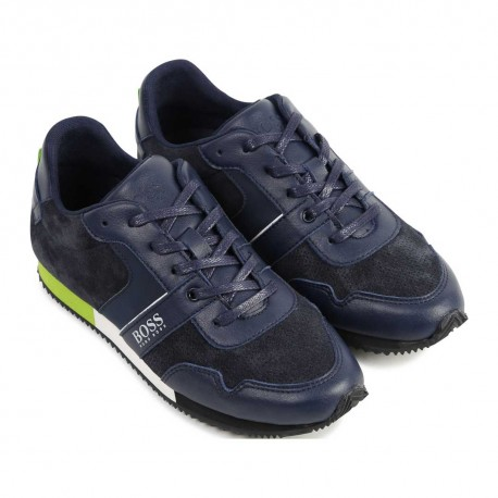 Buty dla dzieci - sznurowane obuwie chłopięce Hugo Boss 004176 a