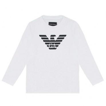 Koszulka chłopięca z logo Emporio Armani 004179