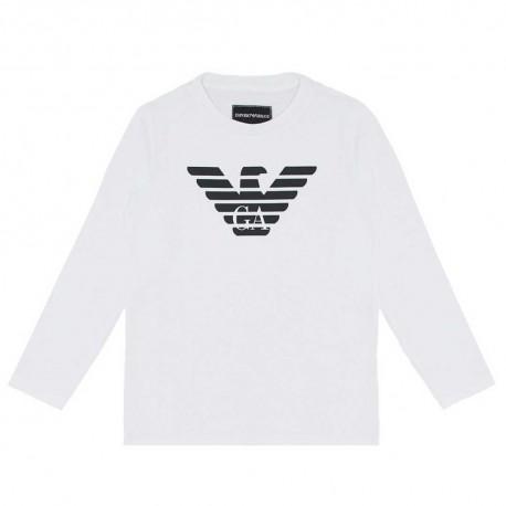 Koszulki chłopięce z logo - ubrania dla dzieci Emporio Armani 004179