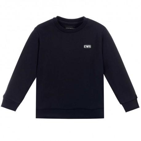 Granatowa bluza chłopięca Emporio Armani - ekskluzywne ubrania dla dzieci - 004182 A
