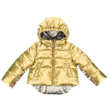 Złota kurtka dla dziewczynki Monnalisa 004184