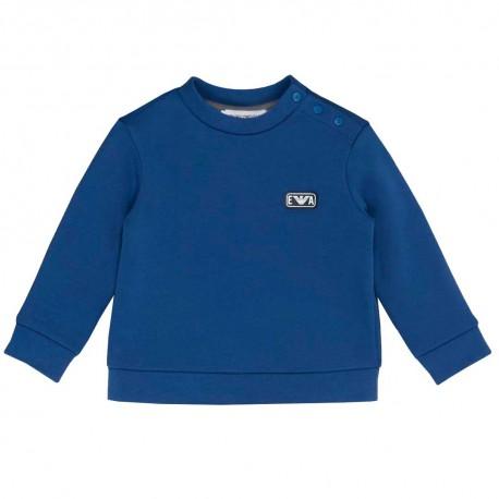 Niebieska bluza niemowlęca Emporio Armani - sklep z ubrankami dla dzieci 004187 A