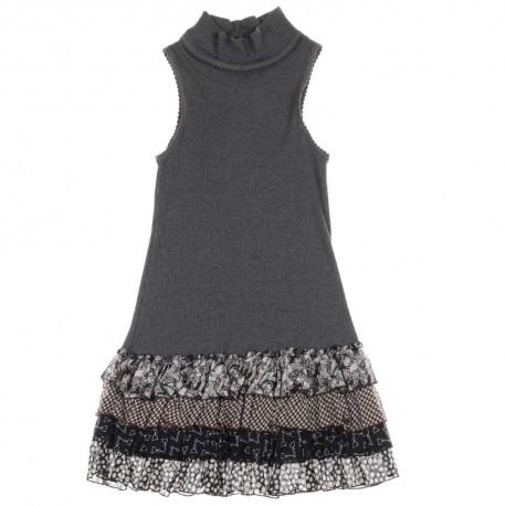 Sukienka dziewczęca bez rękawów - ubrania dla dzieci Monnalisa 004194 a