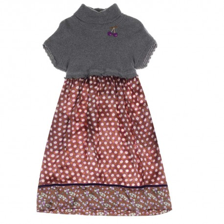 Sukienka dziewczęca z golfem - odzież dla dzieci Monnalisa 004195 a