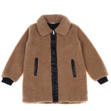 Karmelowy płaszczyk dla dziewczynki Liu Jo 004196 A
