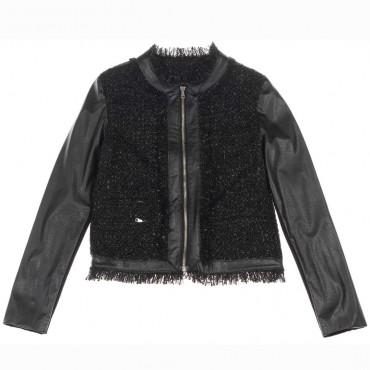 Czarna kurtka dziewczęca Miss Grant 004206