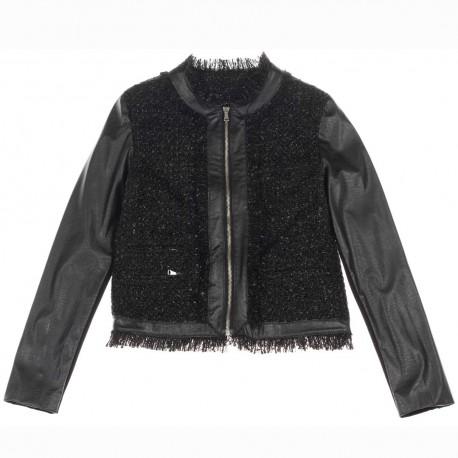 Czarna kurtka dziewczęca Miss Grant 004206 A