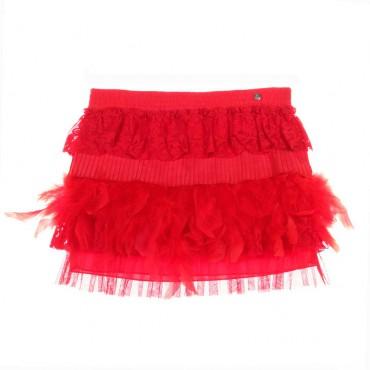 Czerwona spódniczka dziewczęce Miss Grant 004208 A - ubrania dla dzieci