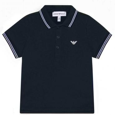 Koszulka polo dla małego chłopca Armani 004219 A