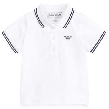 Niemowlęca koszulka polo Emporio Armani 004220 A - ubranka dla niemowląt