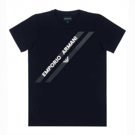 Koszulka chłopięca z nadrukiem Armani 004221 A - ekskluzywna odzież dla dzieci